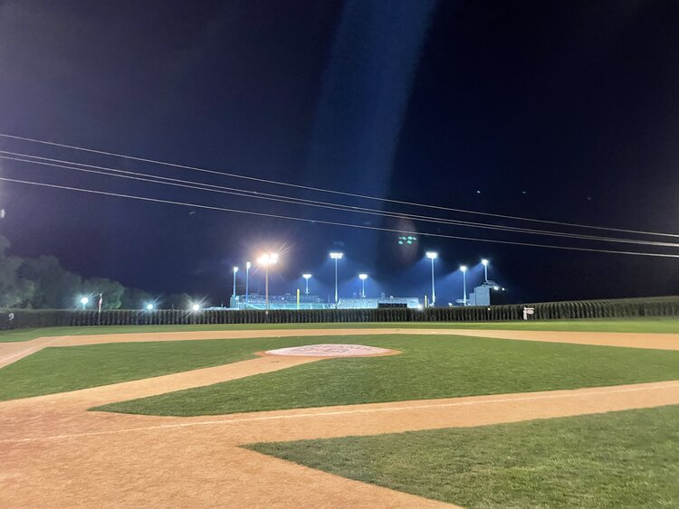 The view of both fields at 12:04AM on Friday, August 13, 2021.